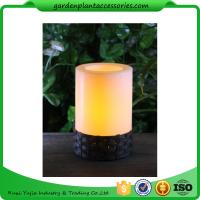 Wholesale White Plastic Candle Solar Garden Lights Battery Operated With Black Wick  shrinkwrap+belly band 17x17x12cm 3.33kgs/ctn from china suppliers
