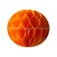 Wholesale Orange Blue Tissue Paper Honeycomb Balls , Honeycomb Wedding Decorations from china suppliers