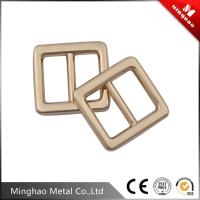 Wholesale Handmade design metal adjustable slide buckles for bag accessories , backpack metal slide buckle from china suppliers