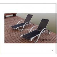 Wholesale Portable Metal Folding Patio Sun Loungers For Beach / Lawn / Swiming Pool from china suppliers