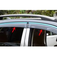 Wholesale HONDA CR-V 2012 Car Window Visors , Stainless Steel Trim Stripe Wind Deflectors from china suppliers