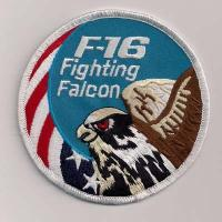 Wholesale US United States USAF F-16 Fighting Falcon Swirl Embroidered Military Patch Blue from china suppliers