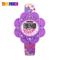 Wholesale Girls Purple Silicone Sport Digital Watch Waterproof Shock Resistant from china suppliers