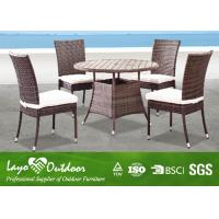 Wholesale All Weather Wicker Garden Furniture Table And Chairs , 5 Pc Patio Dining Set Pest Control from china suppliers