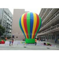 Wholesale Customized 8m Advertisement Colorful Ground Balloon Inflatable With Banner Printing from china suppliers