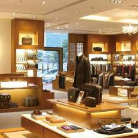 Wholesale Wooden display shelf for men's clothing store design from china suppliers