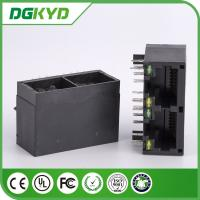 Wholesale KRJ -201BNL unshielded CAT5 2 port rj45 Female connector 100 BASE - TX Speed from china suppliers