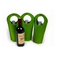 Wholesale high quality factory price  wholesale wool felt wine travel bag from china suppliers