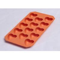 Wholesale Heart shaped FDA LFGB ice cube tray / silicon ice mould with mirror polished surface from china suppliers