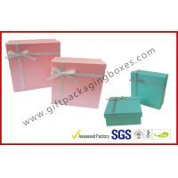 Wholesale Yellow Cosmetic Packaging Gift Box with Ribbon , cardboard gift boxes from china suppliers