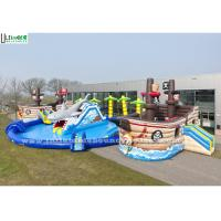Wholesale Amazing Shark And Pirate Inflatable Water Park With Big Pool from china suppliers