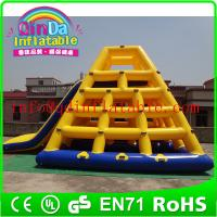 Wholesale Guangzhou QinDa Inflatable Floating Island Inflatable Climbing Water Slide For Adult from china suppliers