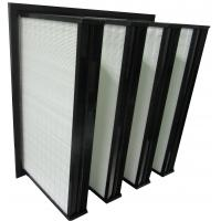 Buy cheap ABS Plastic Frame Mini Pleated Ventilation System Box Type V Bank Filters from wholesalers