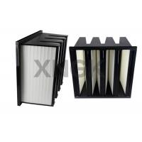 Quality Polyester V Bank Filter 4V Design F8 for Pharmaceutical Clean Room air filter for sale