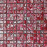 Wholesale Square Red Sea Shell Mosaic Tile For Interior Wall, 20×20mm, 25x25mm from china suppliers
