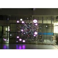 Wholesale Indoor P7.81-15.625 Flexible LED Screen Antisepsis / Anti Static Transparent LED Display from china suppliers