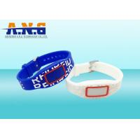 Wholesale 13.56MHz LED Light blue custom slap wristbands For Water parks from china suppliers
