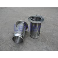1.0*2.0mm Profile Wire Screen , Long Slit Wedge Wire Strainer Non - Clogging