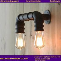 Wholesale Vintage Indrustrial Rustic Water Pipe Metal Wall Lights from china suppliers