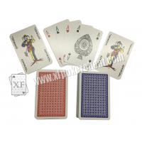 Wholesale Gambling Toolment NO.1 Red / Narrow Size 4 Small Index Paper Playing Cards from china suppliers