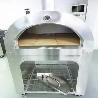 Quality 2014 movable outdoor wood fired pizza oven with trolley for sale