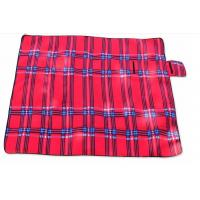 China Red Outdoor Camping Mat Waterproof Picnic Blanket Polyester Sponge Material on sale
