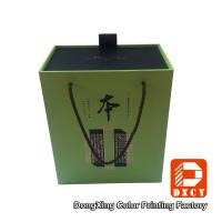 Wholesale Elegant Eco Sturdy Cardboard Wine Gift Boxes Customized Gold Stamping Surface from china suppliers