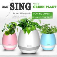 Wholesale IP68 Waterproof Smart Touch Music Flower ABS Plastic Vase With Bluetooth from china suppliers