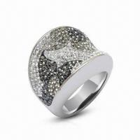 Wholesale Swarovski Jewelry/Ring, Sterling Silver Ring with Crystal Ring, Available in New Design from china suppliers