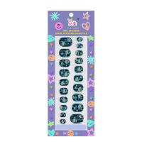 Wholesale Halloween Pattern Nail Art / Paper Finger Nail Stickers Wraps For Children from china suppliers