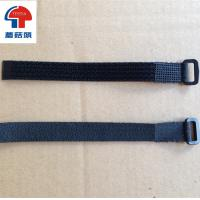 Wholesale Velcro straps with plastic buckle hook loop buckle strap logo printing from china suppliers
