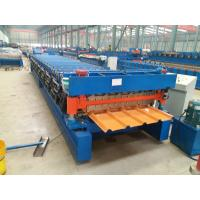 Wholesale Automatic Roofing Sheet Roll Forming Machine Color Coated 15 m / min speed from china suppliers