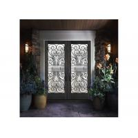 Wholesale Custom Wrought Iron Entry Doors Thickness 30 Mm S509 Type Iron Mosaic Glass from china suppliers