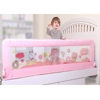 Wholesale Modren Design One Button Foldable Pink Adjustable Bed Rails With Cartoon Picture Net from china suppliers