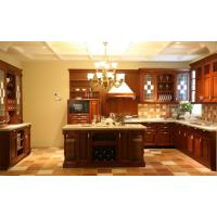 Quality Antique Red Solid Wood Kitchen cabinet for sale