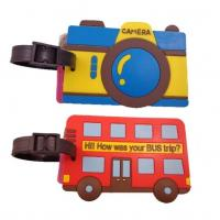 Buy cheap Custom PVC rubber bag accessories travel ID name luggage tag from wholesalers