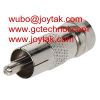 Wholesale Coaxial Adapter Coaxial Adaptor RCA Male To F Male Connector CCTV Antenna / RCAM.FM from china suppliers