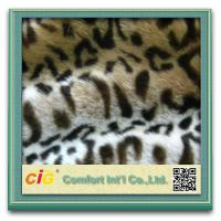 Wholesale Leopard Plush Cat Toys / Garment Luxury Faux Fur Fabric , Artificial Fur Cloth Shrink-Resistant from china suppliers