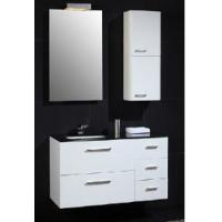 Wholesale Pure White Color Wall Mounted MFC Bathroom Vanity   (PB202) from china suppliers