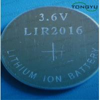 Wholesale LIR2016 3.6V Rechargeable Lithium Button Cell Battery with UL, UN, RoHS Approved from china suppliers
