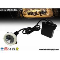 Buy cheap 10000lux High Brightness LED Mining Headlamp , 3.7V 6.6Ah Underground Cap Lamps from wholesalers