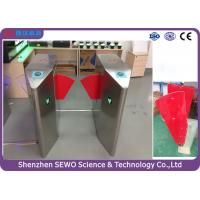 Wholesale Glass Swing Automatic SEWO Flap Barrier Gate , IP54 speedgate systems from china suppliers
