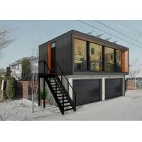 Wholesale Two Storey Prefab Modified Shipping Containers With Ladder And Garage In Black Color from china suppliers