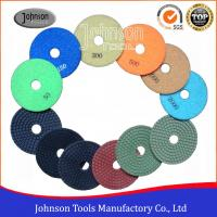 Wholesale Flexible 4 Inch Diamond Polishing Pads 100mm For Engineered Stone Surfaces from china suppliers
