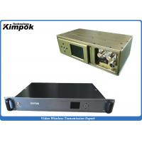Wholesale COFDM SD Video Transmitter Analog Long Range Wireless CCTV Transmission from china suppliers