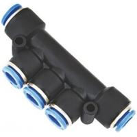 Wholesale Multiple Tee with Mounting Holes One Touch Pneumatic Push in Fittings from china suppliers