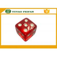 Wholesale Transparent 19mm Acrylic Custom Six Sided Dice With Straight Corner from china suppliers
