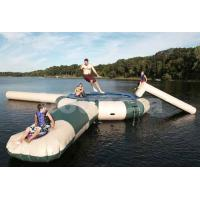 Wholesale 0.9mm PVC Inflatable Water Trampoline Combo With Water Slide from china suppliers
