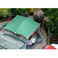 Quality Membrane Cover Shade Pool Awnings Canopies , Cable Strained Swimming Pool Shade Structures for sale