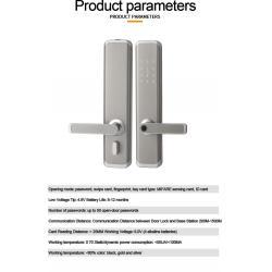 China Hidden Keyhole APP Bluetooth Fingerprint Scanner RFID Door Lock For Hotel and for sale